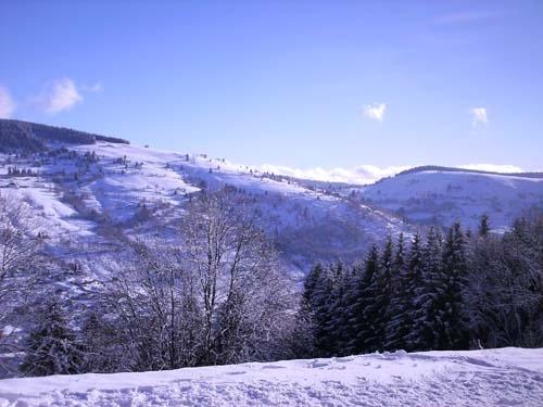Vue d'hiver - Location de vacances - La Bresse