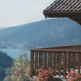 Vue la depuis la terrasse - chalet la stuga - Location de vacances -