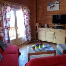 Salon télévision - Chalet Stuga - Location de vacances - Gérardmer