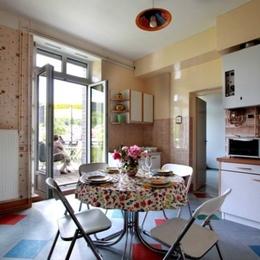Cuisine ouvert sur terrasse - Duplex Gérardmer - Location de vacances - Gérardmer