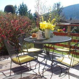 vue d'hiver depuis le chalet  - Location de vacances - Gérardmer