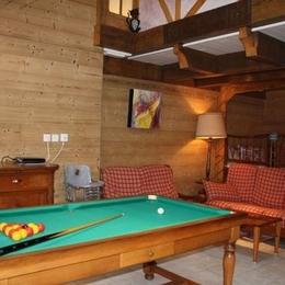 séjour détente, billard, sieste, jeux de société, lecture dans un cadre original et chaleureux - Location de vacances - Gérardmer