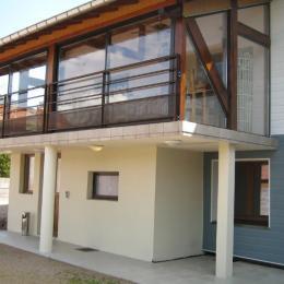 Séjour en véranda avec belle vue sur le Massif - Gite des Cucherons - Location de vacances - Vecoux