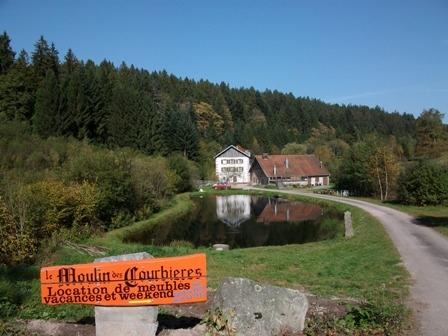 Vue générale - Domaine Moulin des Courbières entre la Bresse et Gérardmer - Location de vacances - Gerbamont