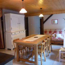 Pièce de vie - Apt. Coquelicots - Domaine Moulin des Courbières entre la Bresse et Gérardmer - Location de vacances - Gerbamont