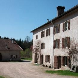 Vue côté cour - Apt. Coquelicots - Domaine Moulin des Courbières entre la Bresse et Gérardmer - Location de vacances - Gerbamont