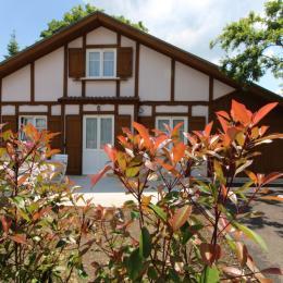 Facade côté rue Châlet Magdelon Vittel 88800 - Location de vacances - Vittel