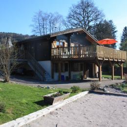 Vue du Jardin - Chalet l'Eterlou (exposition plein sud) - Location de vacances - La Forge