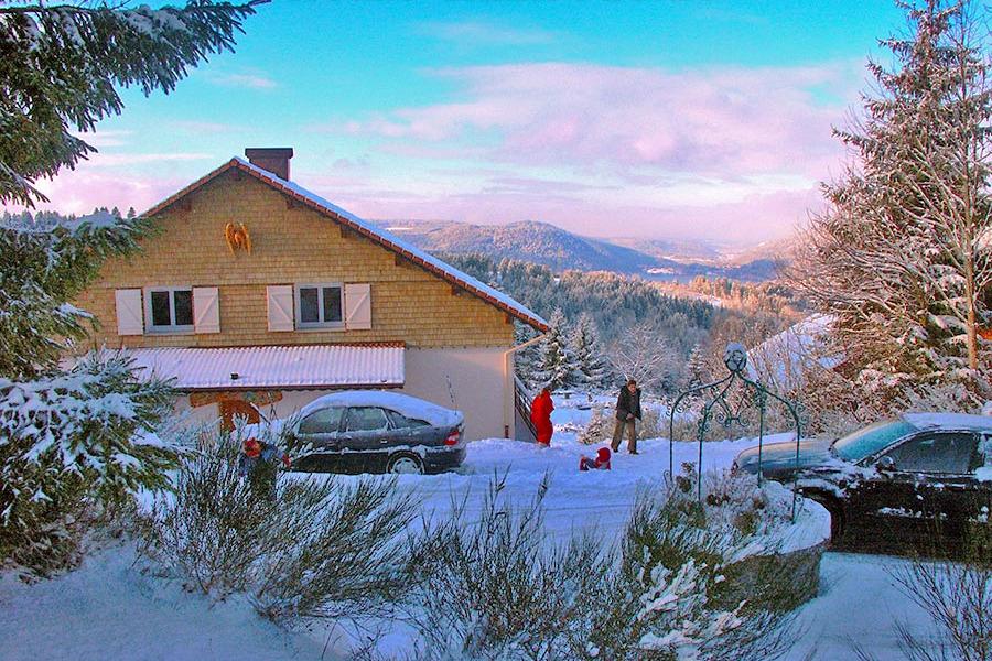 votre chalet en hiver - Location de vacances - Gérardmer