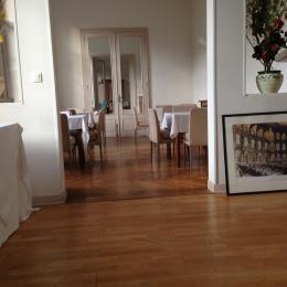 Salle lecture / petit déjeuner Résidence Les Acacias Plombieres les Bains Vosges - Location de vacances - Plombières-les-Bains