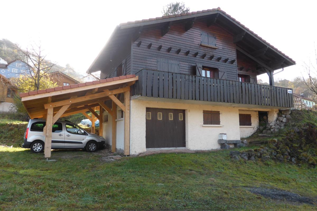 chemin d'accès et parking  - Location de vacances - La Bresse