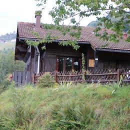 sous la neige, façade avant - Location de vacances - La Bresse