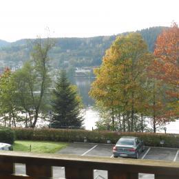 Vue sur le lac depuis le balcon - Location de vacances - Gérardmer