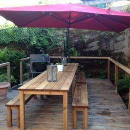 la terrasse - Location de vacances - Brouvelieures