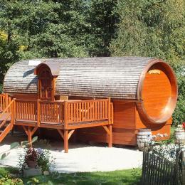 La roulotte l'été - La Charmante Rasey Vosges - Chambre d'hôtes - Xertigny