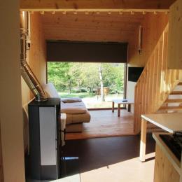 Salon avec Poêle à bois - Location de vacances - Vagney