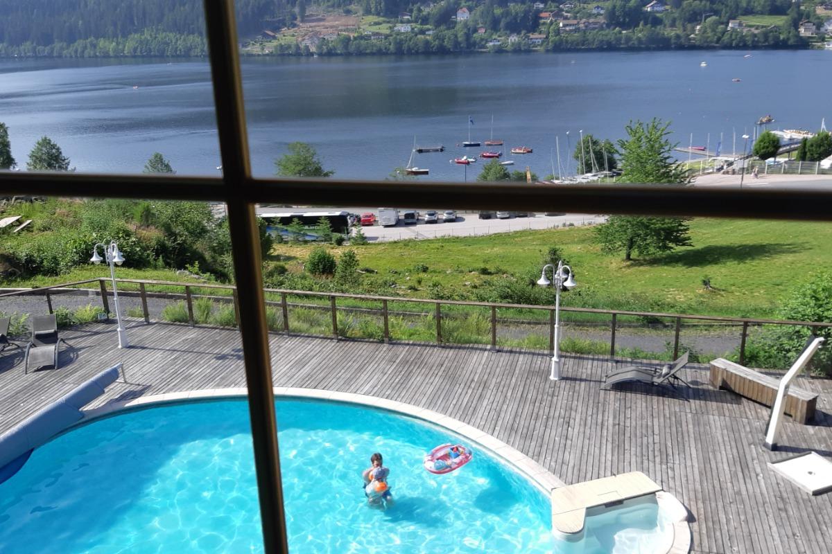 villa située près de la forêt et proche du centre ville avec vue sur le lac et une piscine! - Location de vacances - Gérardmer