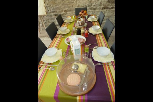 le Faing du Bray - le petit-déjeuner - Chambre d'hôtes - Plombières-les-Bains