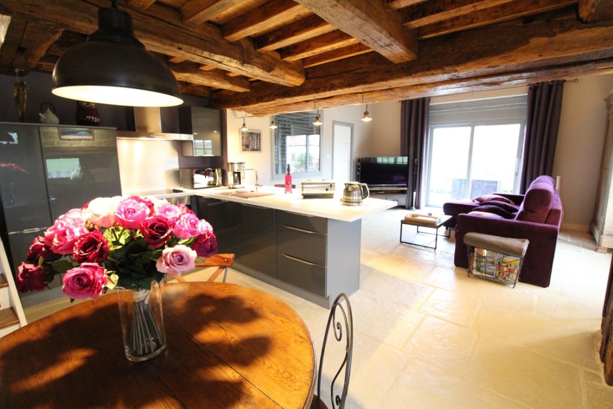 Maison le Grand Pré Ouest - Séjour / cuisine ouverte  - Location de vacances - Suriauville