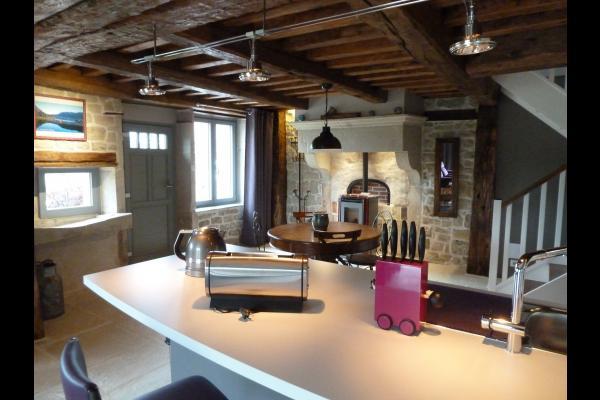 Maison le Grand Pré Ouest - Séjour/ cuisine ouverte  - Location de vacances - Suriauville