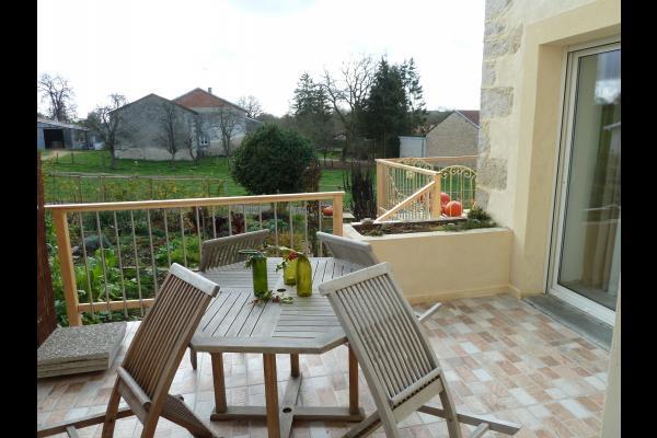 Maison de village proche Vittel et Contrexéville - Terrasse   - Location de vacances - Dombrot-le-Sec
