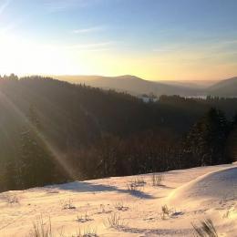 Chalet Le Haut Meix à Gérardmer - Matin d'hiver - Location de vacances - Gérardmer