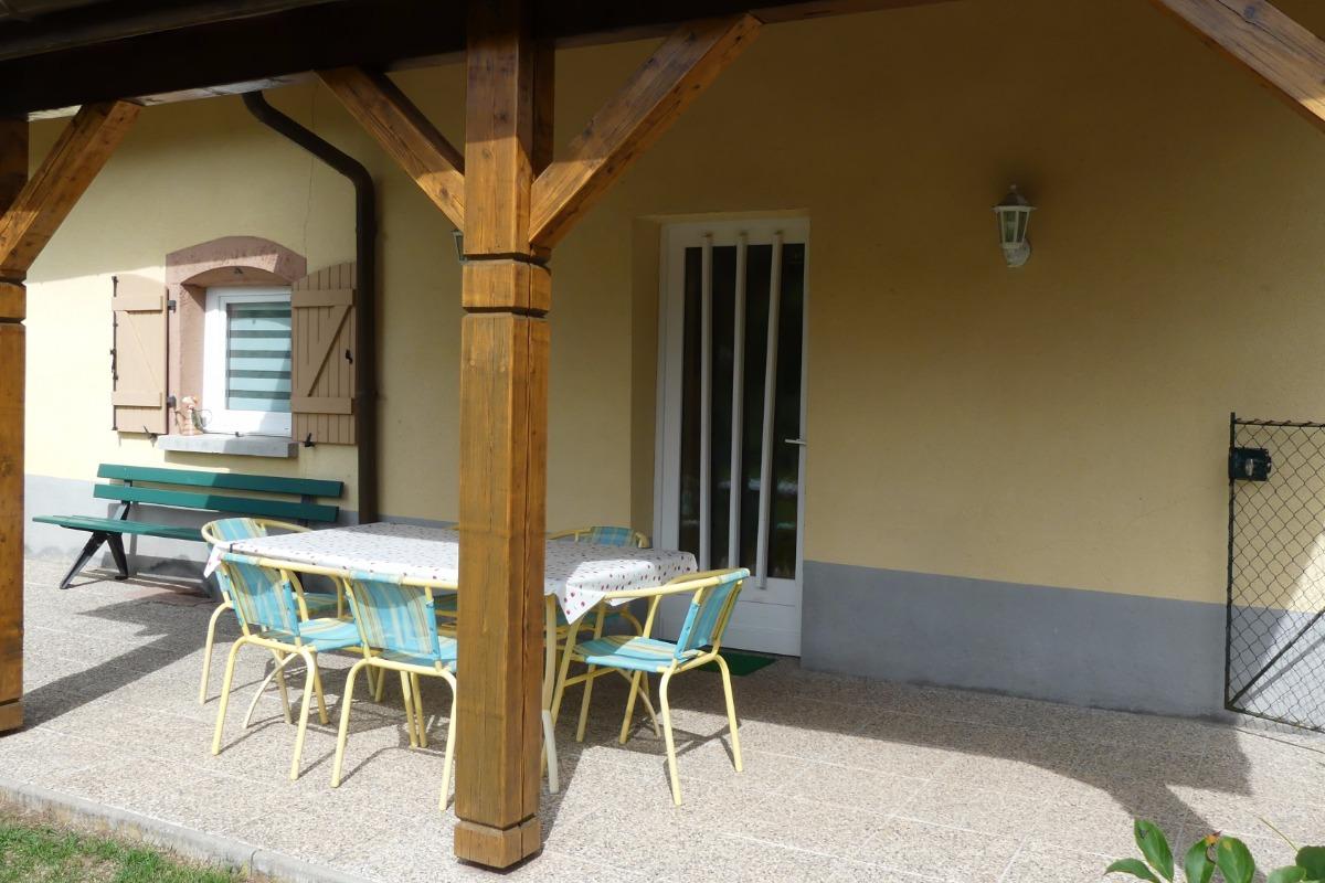 Terrasse - Location de vacances - Taintrux