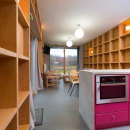 Woodies - Gîte Rochère - Coin Repas et Salon - Location de vacances - Xertigny