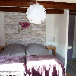 la seconde chambre du rez-de-chausée - Location de vacances - Corcieux