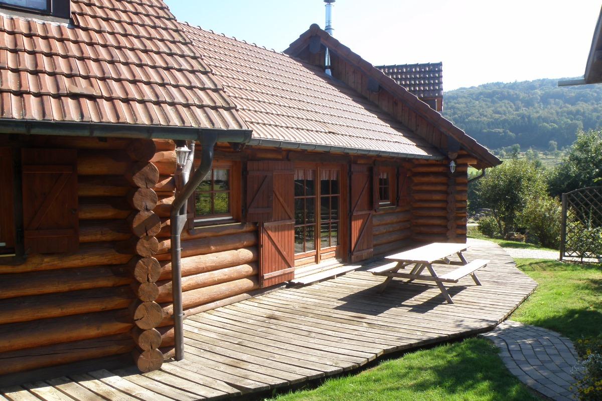 La terrasse du chalet La Holotte - Location de vacances - Tendon