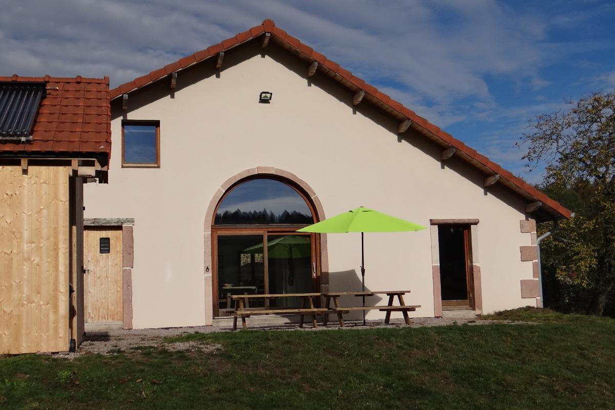 la terrasse - Vosges - Location de vacances - Tendon