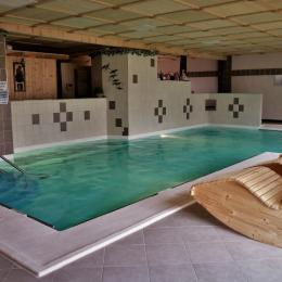 Piscine avec spa et chute d'eau - Location de vacances - Gerbépal