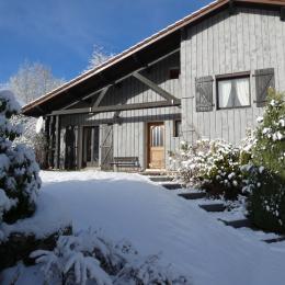la véranda donne sur le jardin et une grande terrasse,   - Location de vacances - Xonrupt-Longemer