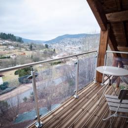 Vue Balcon sur la ville, le lac - Chalet les Biches - Gérardmer Vosges - Location de vacances - Gérardmer