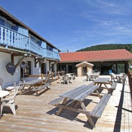 la terrasse commune - Location de vacances - Gérardmer