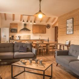 Le salon - Location de vacances - La Bresse