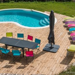 Piscine terrasse - Location de vacances - La Bresse