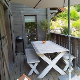 Le balcon en hiver - Location de vacances - Le Ménil