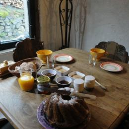 Le petit déjeuner - Chambre d'hôtes - Cornimont