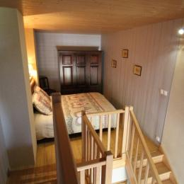Chambre 1 en mezzanine - Location de vacances - Clézentaine