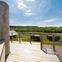 Cabane L'Ecrin - Vue depuis la Terrasse - Location de vacances - Xertigny