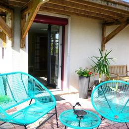 extérieur accessible en direct de la chambre Ricky  - Chambre d'hôtes - Bruyères