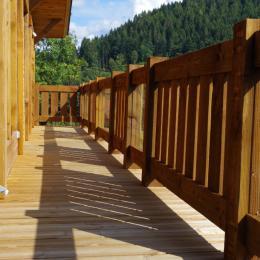 Salon avec poêle à bois - Location de vacances - Gérardmer