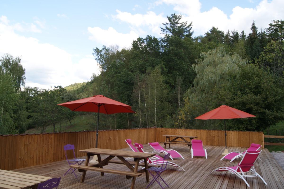 Terrasse commune - Location de vacances - Dommartin-lès-Remiremont