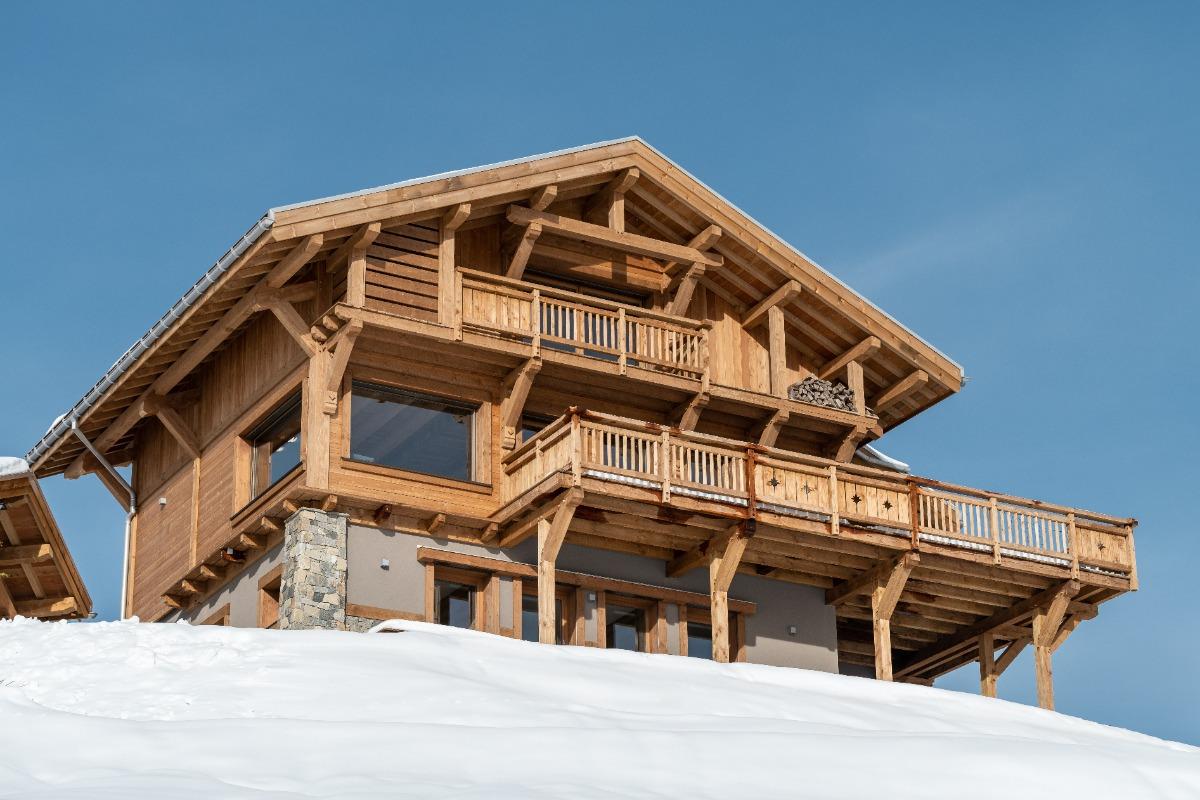 Entrée du chalet - Location de vacances - La Bresse