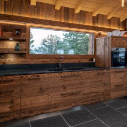 Salle à manger et salon - Location de vacances - La Bresse