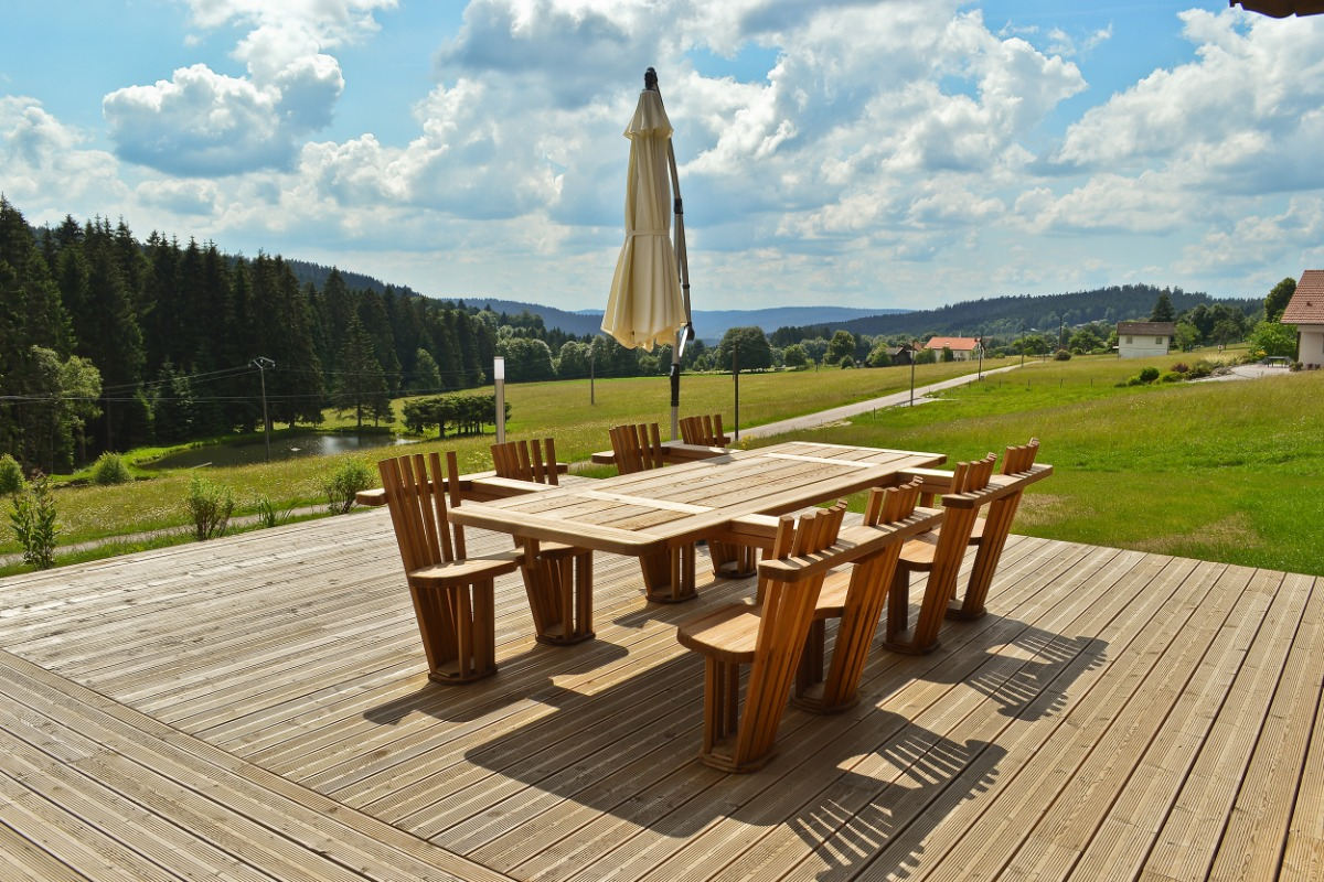 terrasse - Location de vacances - Liézey