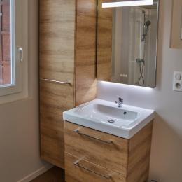 Salle d'eau, vasque - Location de vacances - Contrexéville