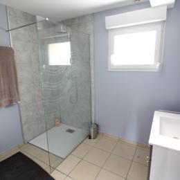 Salle d'eau avec douche à l'italienne - Location de vacances - Saulcy-sur-Meurthe