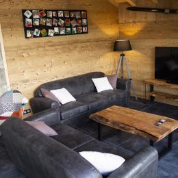 Terrasse rez de jardin pour chambres 1 et 2 - Location de vacances - Gérardmer